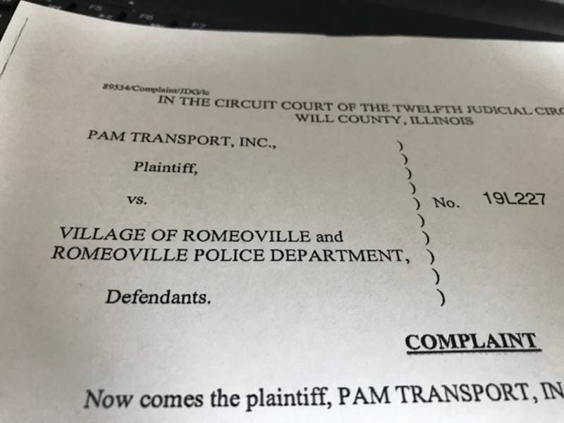 PAM Transport Sues Romeoville Police For 2018 Murder Case