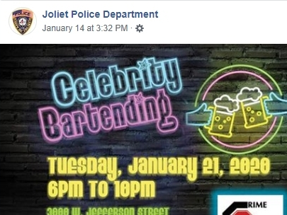 Joliet Police Promote Celebrity Bartending Event At The Dock