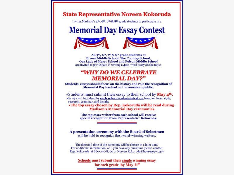 Kokoruda Hosts Memorial Day Essay Contest  Madison Ct Patch Kokoruda Hosts Memorial Day Essay Contest