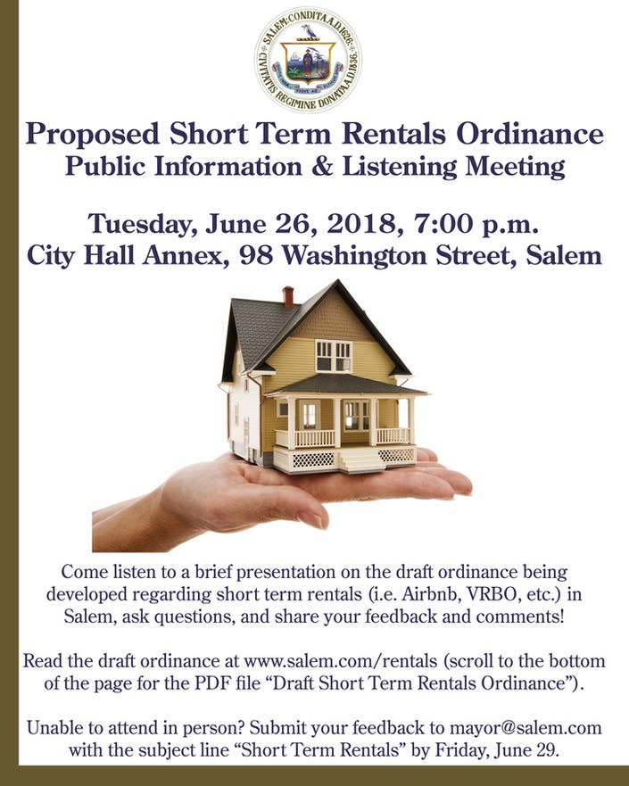 Melrose Ma Apartments: Salem Ready To Discuss Proposed Airbnb Rules