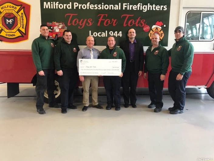 Milford Fire Receives $2,438 Check To Help Needy Children