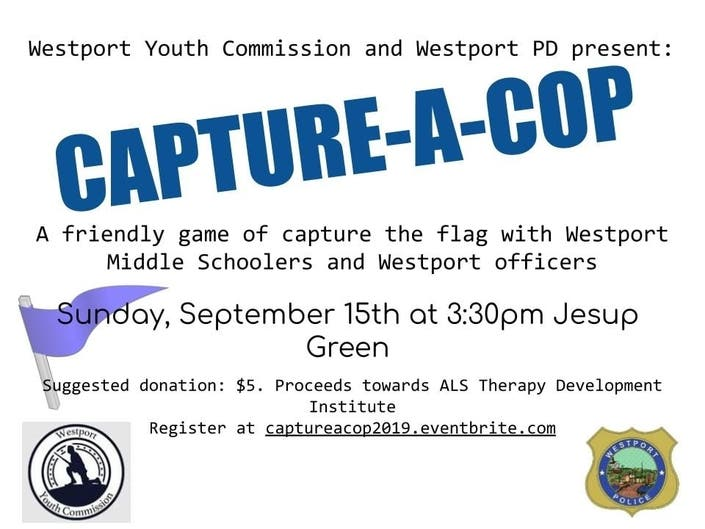 Westport 'Capture-A-Cop' With Middle Schoolers Sept  15
