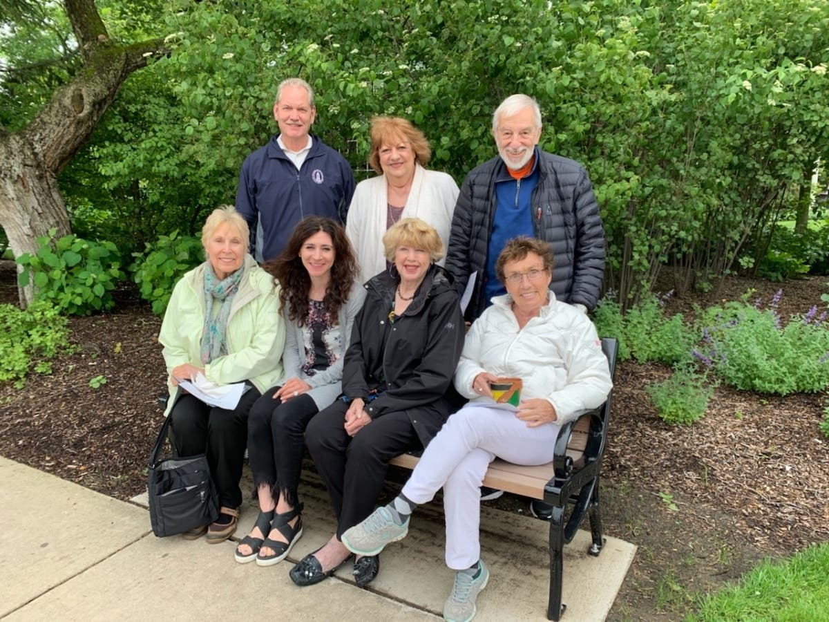 Glencoe Senior Discussion Group Leads To Bench For Bus