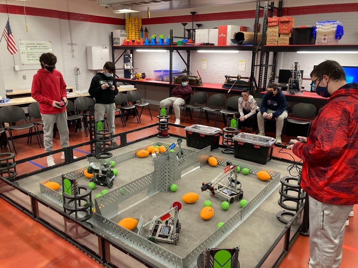 East Islip HS Tech Students Push The Robotics Envelope - Image