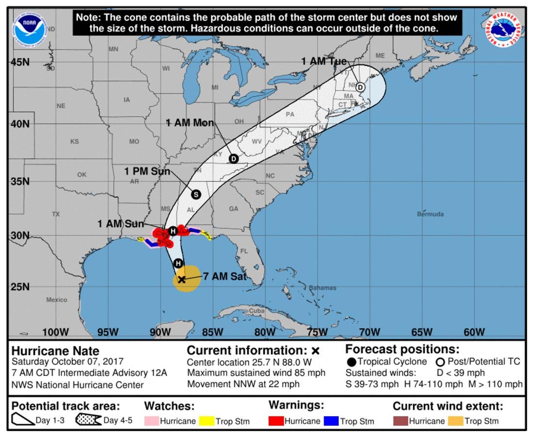 Alabama Under State Of Emergency As Category 2 Hurricane Nate Nears Gulf Coast Birmingham Al Patch