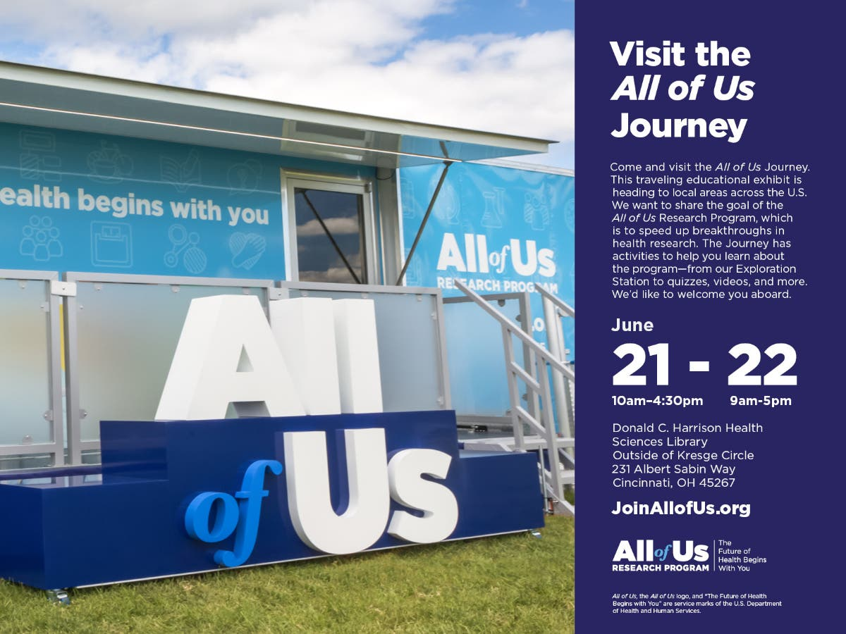 Jun 22 | NIH's All of Us Journey Comes to UC Health Sciences Library