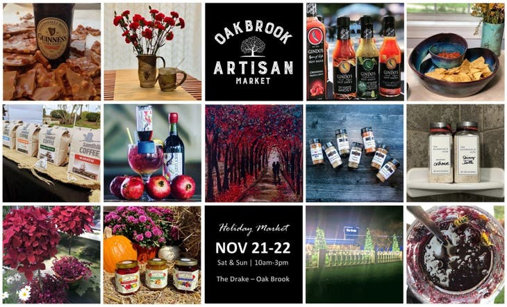 Oak Brook Artisan Market - Sat & Sun, Nov 21-22 (Holiday Edition)