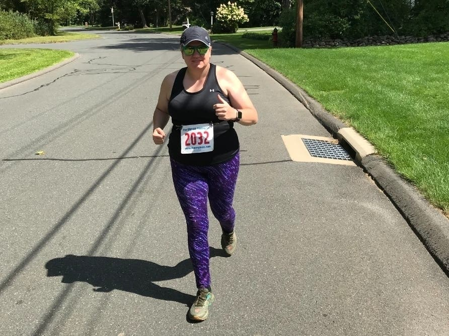 Avon woman finds solace at the start line