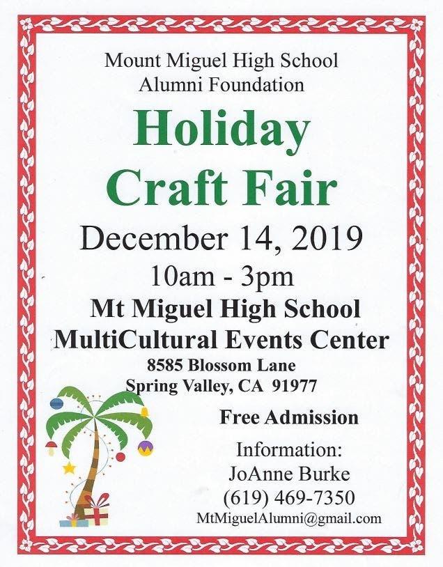 Dec 14 Holiday Craft Fair Lemon Grove Ca Patch