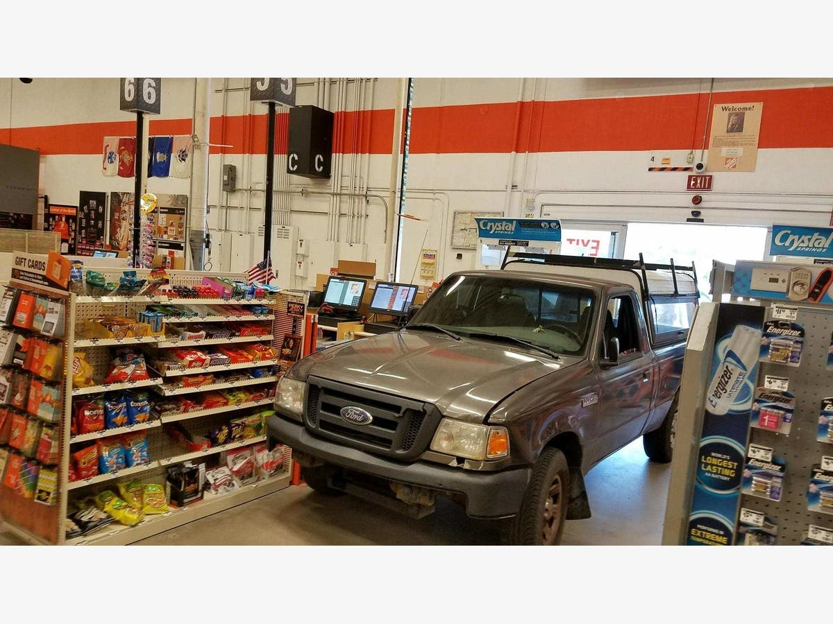 Man Drives Truck Through Home Depot Entrance In New Tampa Lutz Fl Patch