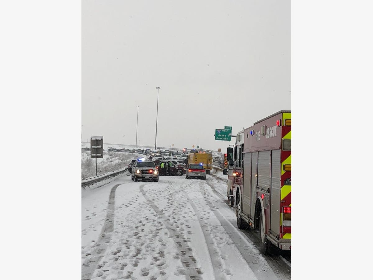 30-Car Snow-Snarled Wreck On C-470 Stops Golden Traffic For