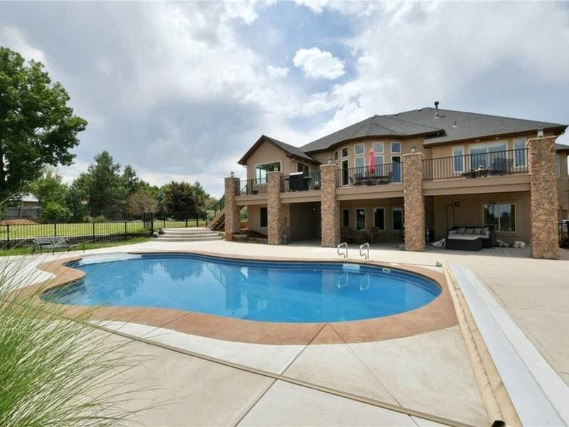 $1.265M Arvada 5 Bedroom With Pool Private Pool, Sport Court, Patio Deck,  Double Fireplaces, Mega Garage. Peek Inside This Arvada Home.