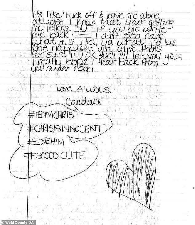 Prison Love Letters Sexy Photos Sent To Chris Watts In Jail