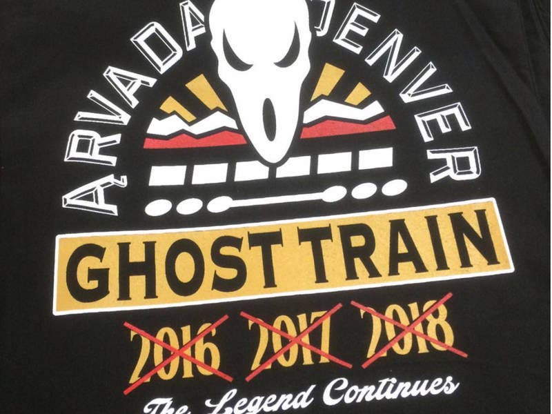 022a525eb 'Ghost Train' T-Shirts Celebrate G-Line To Nowhere   Arvada, CO Patch
