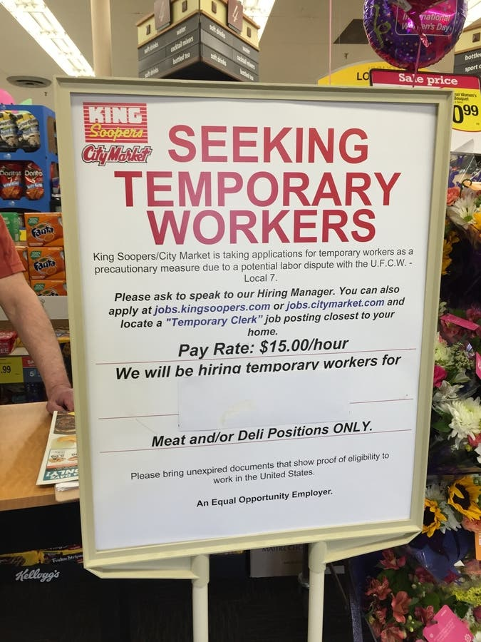 King Soopers Union Employees To Vote On Strike | Lakewood, CO Patch