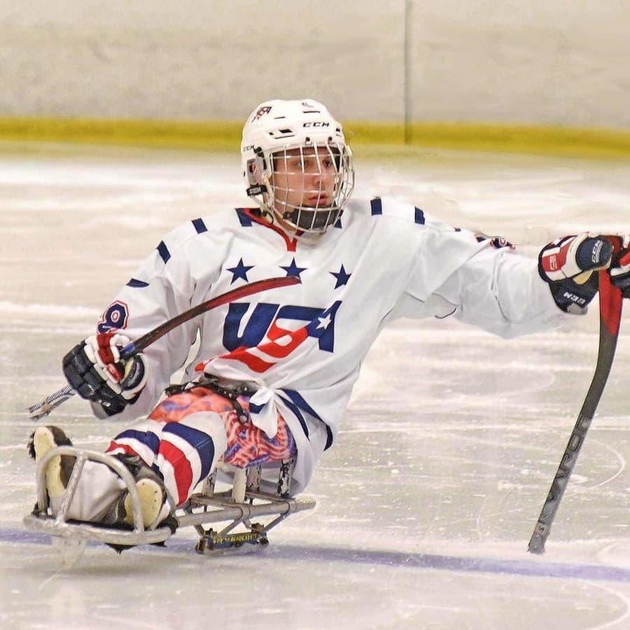 Team Usa Sled Hockey Athlete Visits Des Moines School Des Moines