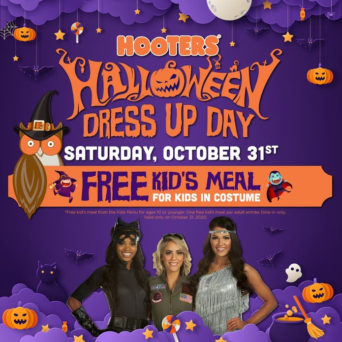 Friday Halloween Events Boca Raton 2020 Oct 31   Kids Eat Free at Hooters on Halloween   Boca Raton, FL Patch