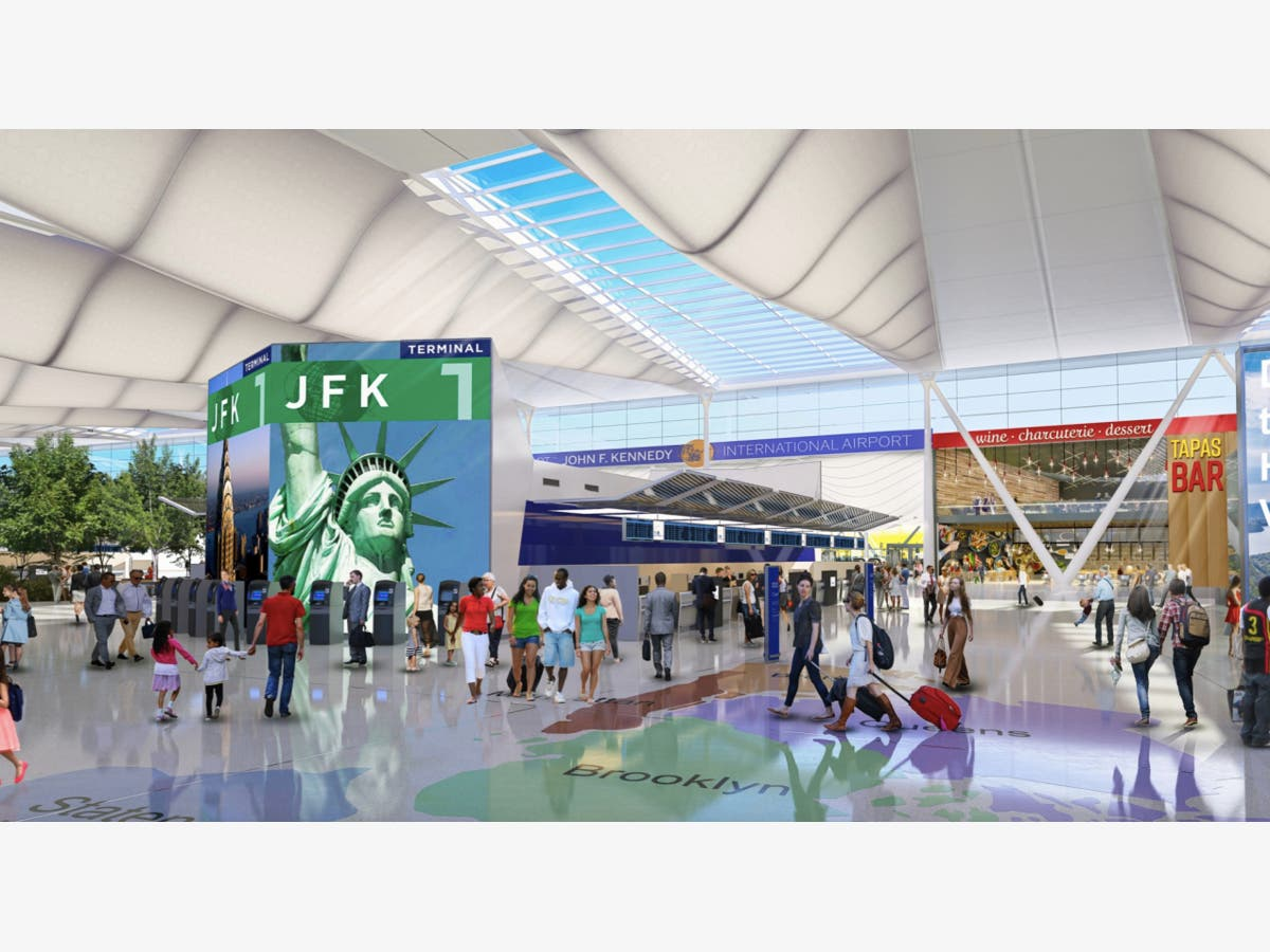 Jfk Airport Terminal 4 Subway Map.See Jfk Airport S 13b Renovation Plan Unveiled Queens Ny Patch