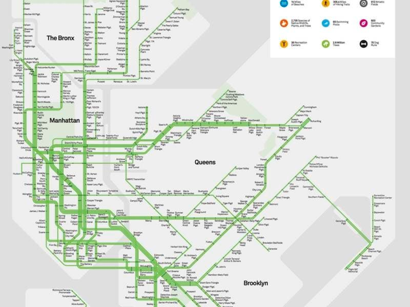 Subway Map Of The Bronx.This Map Reimagines Nyc Parks As Subway Stops New York City Ny Patch