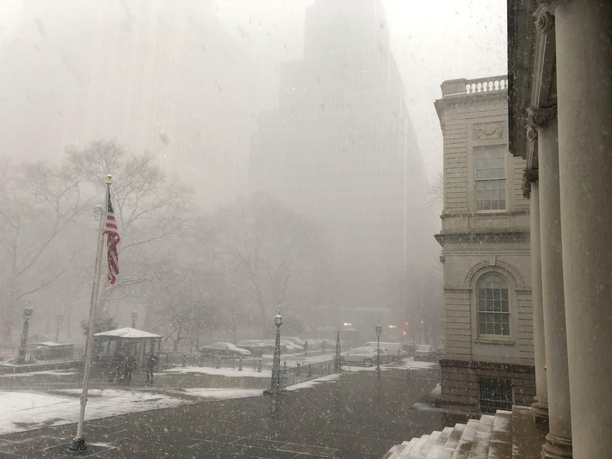 Life Threatening Snow Squall Slams Nyc New York City Ny Patch