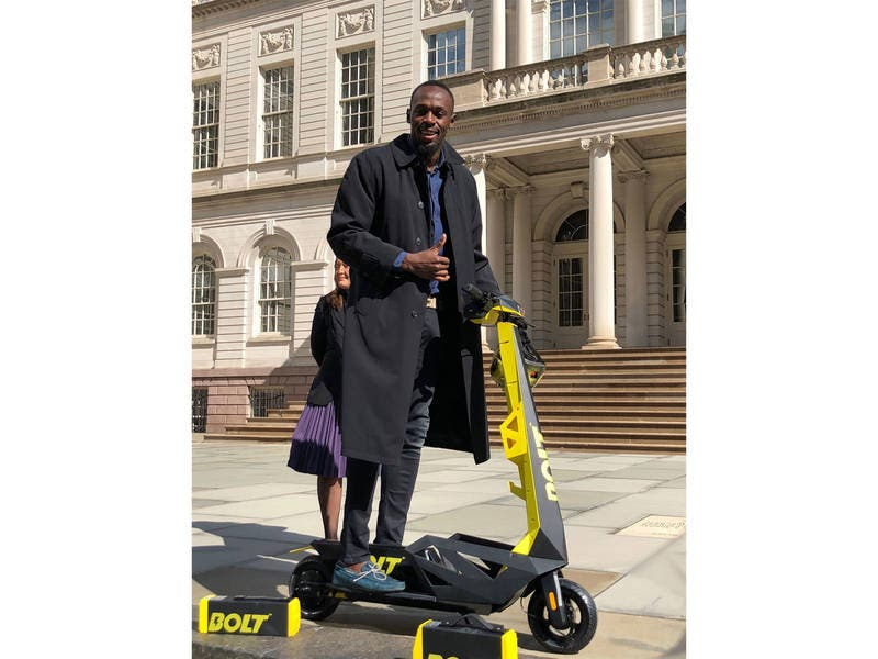 Usain Bolt Touts E-Scooters That Would Run Slower Than Him