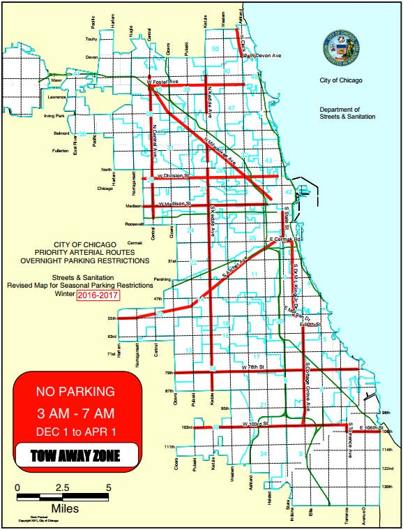 Chicago Winter Overnight Parking Ban Begins | Chicago, IL Patch on
