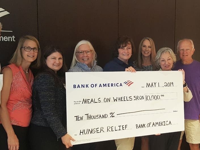 Meals On Wheels Of Sarasota Receives Grant From Bank Of
