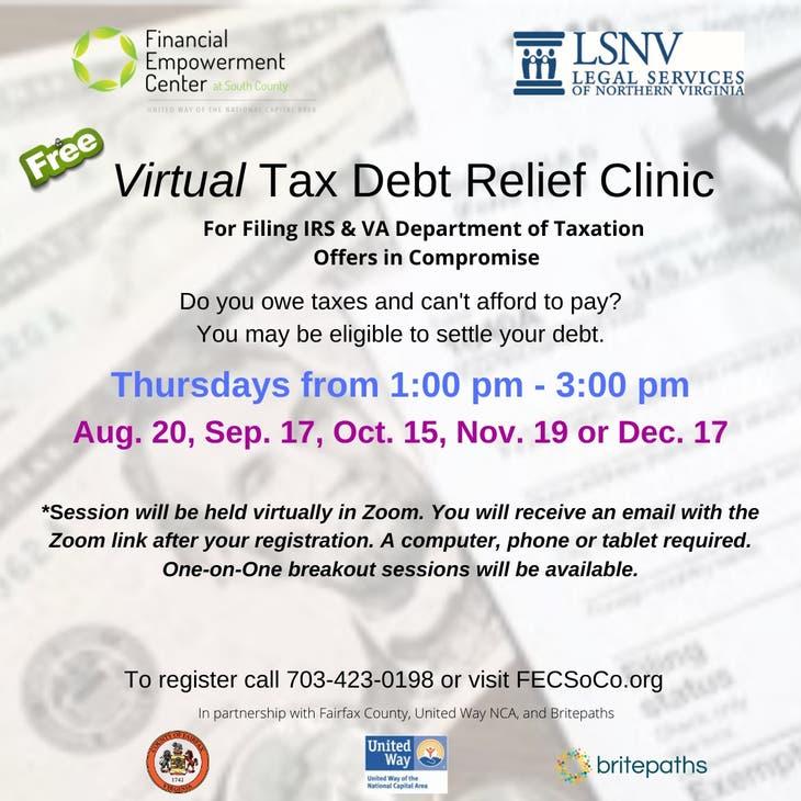 Virtual Tax Debt Relief Clinic