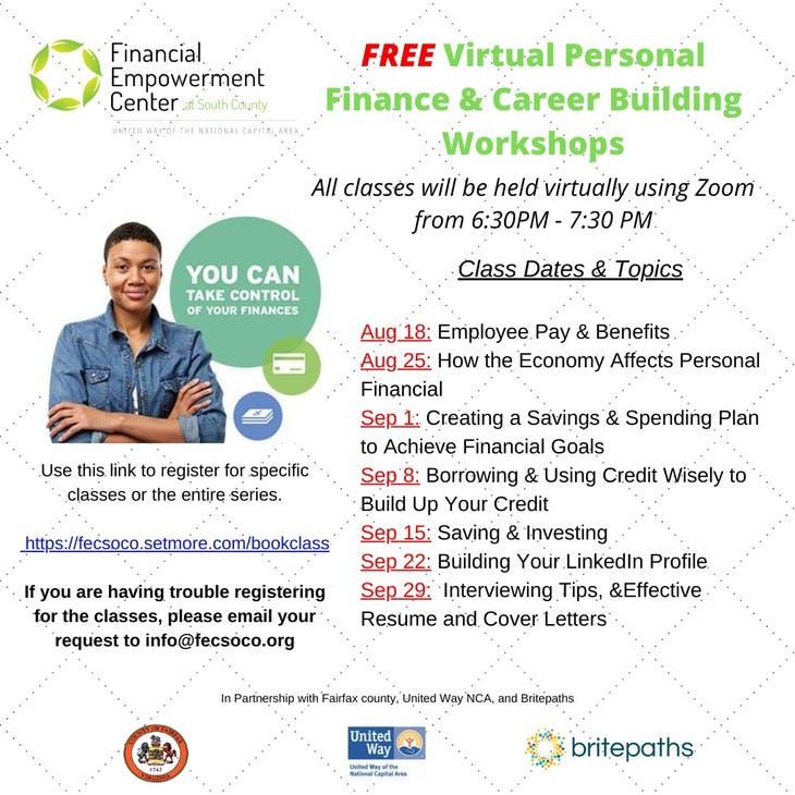 Personal Finance & Career Building Workshops