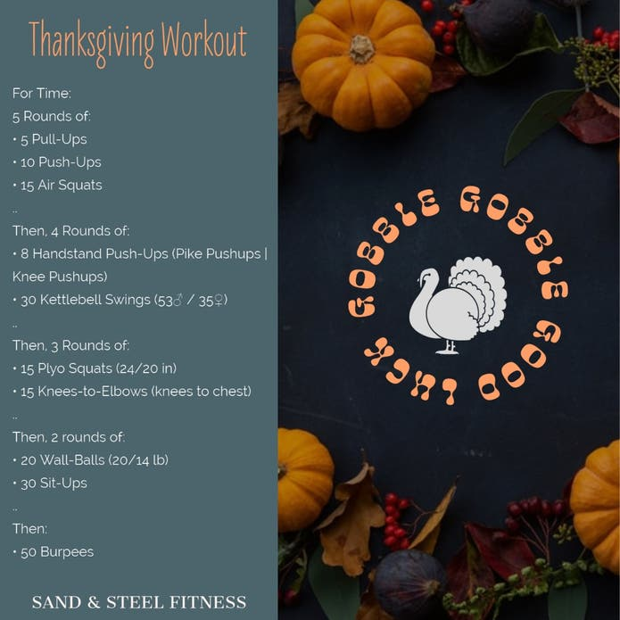 Thanksgiving CrossFit Workout