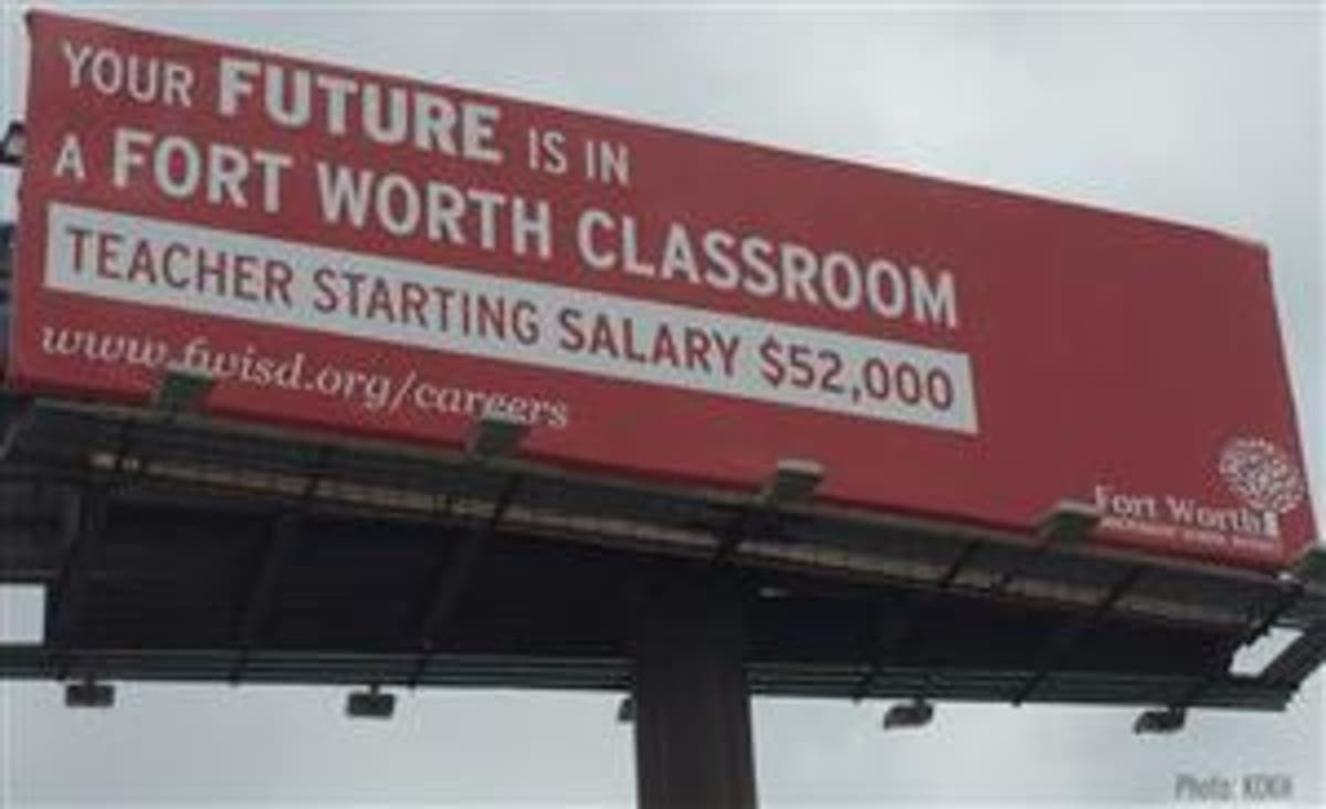 Fort Worth ISD Campaign Lures Oklahoma Teachers To Texas