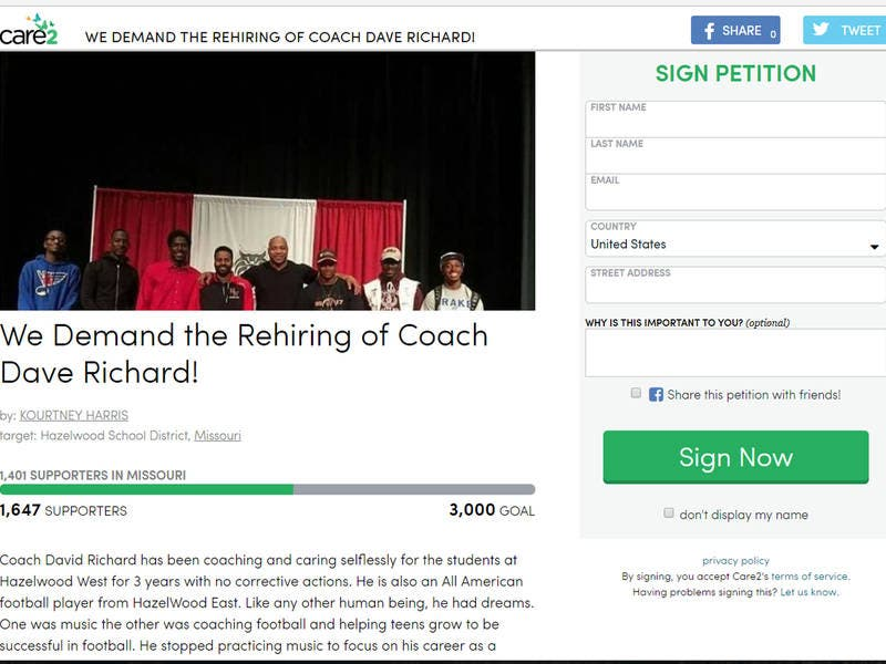 Petition Demands Hazelwood West High Coach Be Rehired