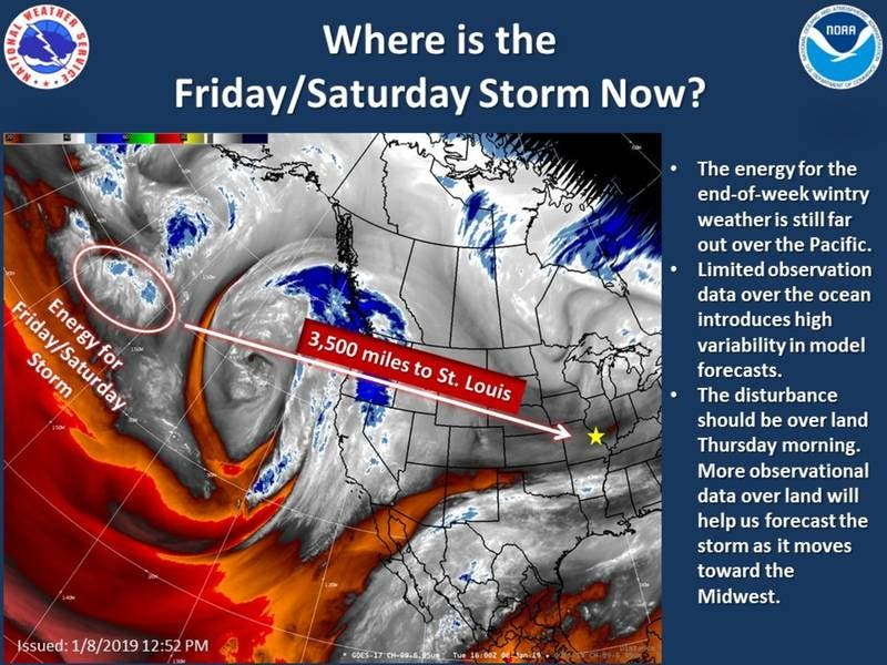Possible Winter Weather Headed For St  Louis This Weekend