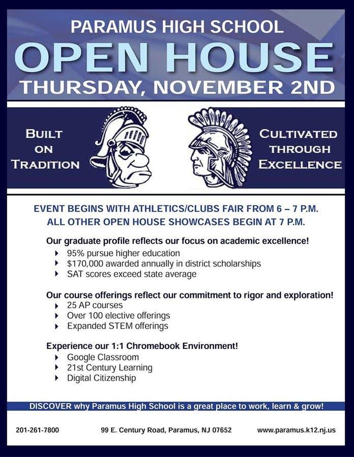 Open House at Paramus High School Next Week | Paramus, NJ Patch
