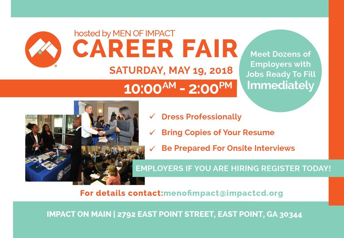 Career Fair TODAY at Impact Church on Main - East Point