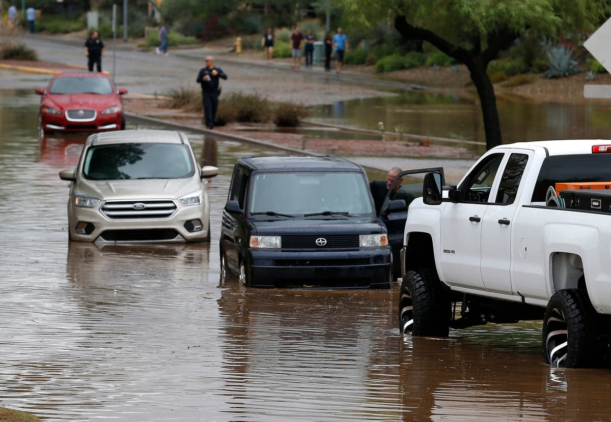 Photos: Arizona Dam Failure Imminent Due To Rosa Flooding