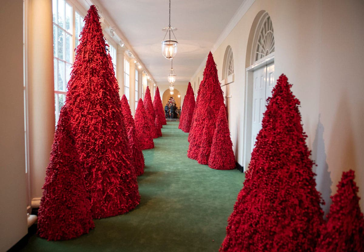 Topiary Trees Line The East Colonnade Of White House Rex Shutterstock