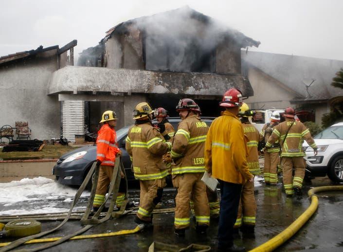 Yorba Linda Plane Crash Sparks House Fire, Kills 5 People: Photos