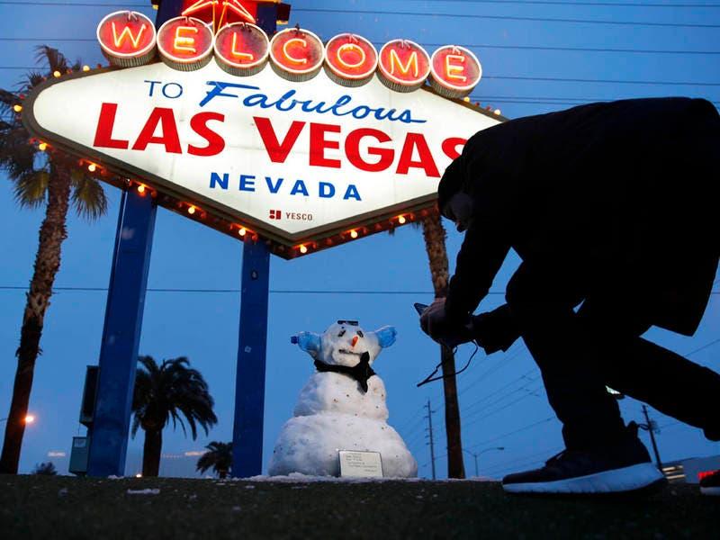 Rare Snow Dusts Las Vegas Strip And California Foothills (PHOTOS) | Las Vegas, NV Patch