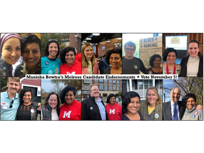 Manisha Bewtra endorsements for 2019 Melrose elections