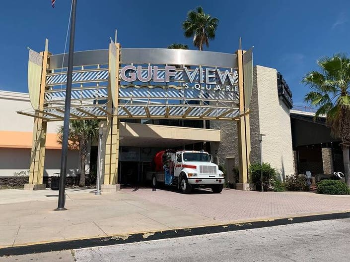 Gulf View Square Mall Evacuated For Gas Leak
