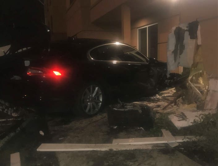 Man Charged With DUI After Crashing Jaguar Into Fairfield Inn