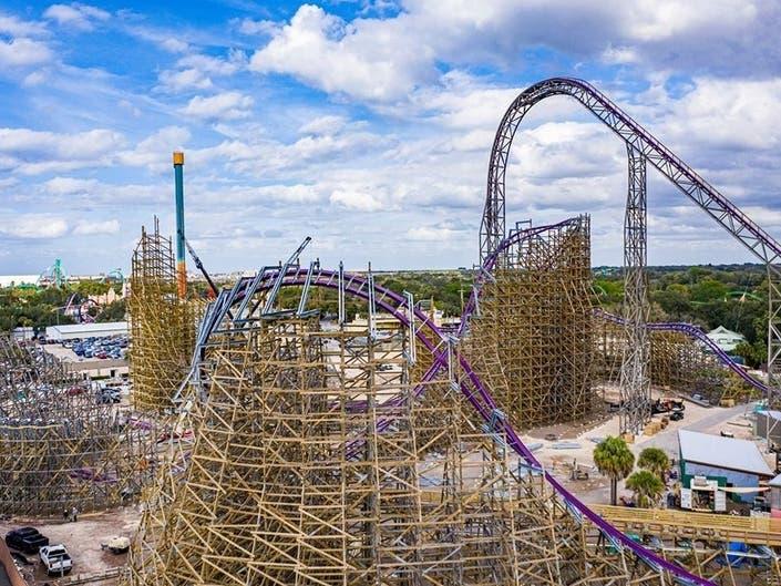 Video Busch Gardens Runs 1st Test On Country S Tallest Coaster