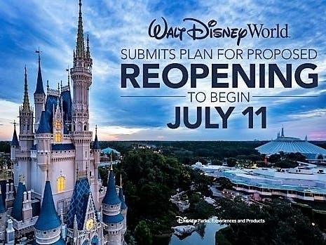 Disney World, Universal, Busch Gardens Announce Reopening Dates