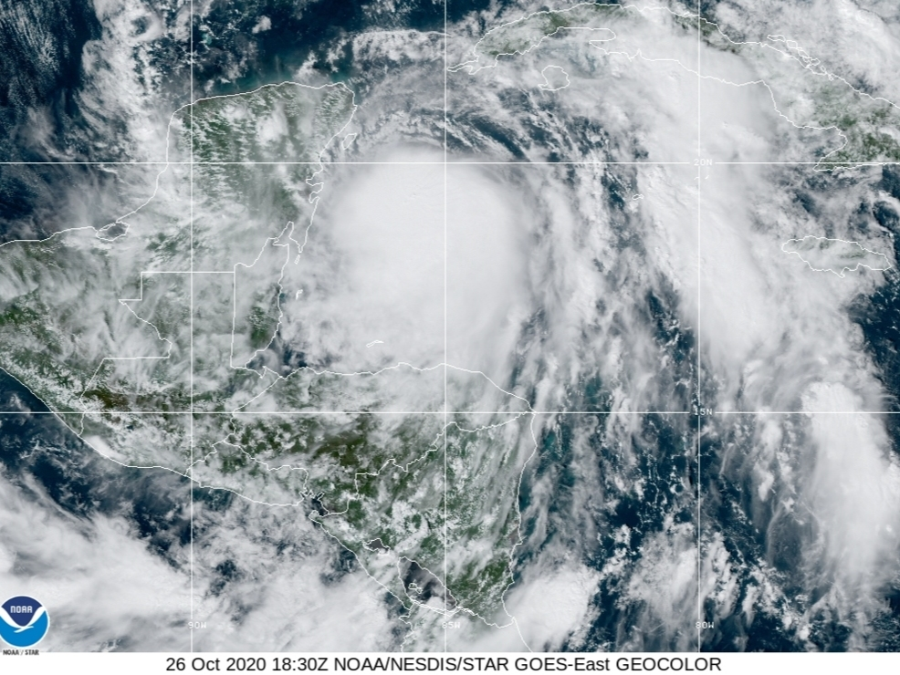 Zeta Becomes Hurricane With Maximum Winds Of 80 mph