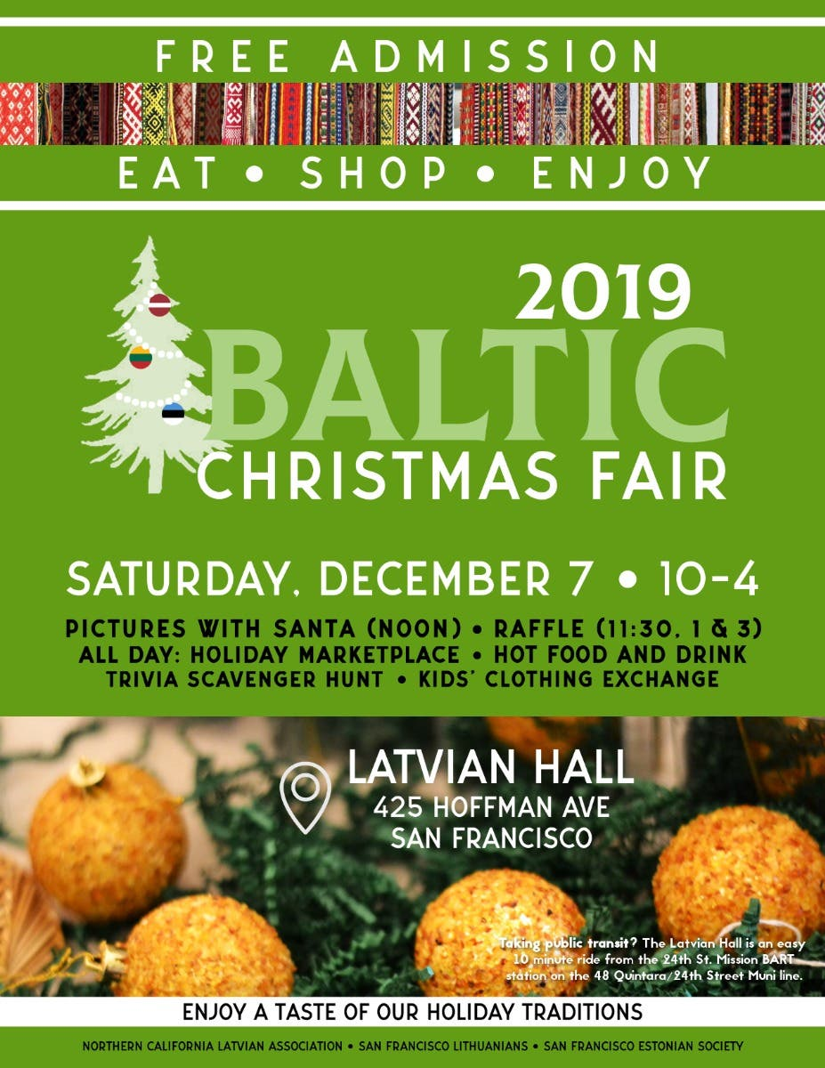 Latvian Lutheran Church Christmas Fair 2020 Dec 7 | Baltic Christmas Fair | San Francisco, CA Patch
