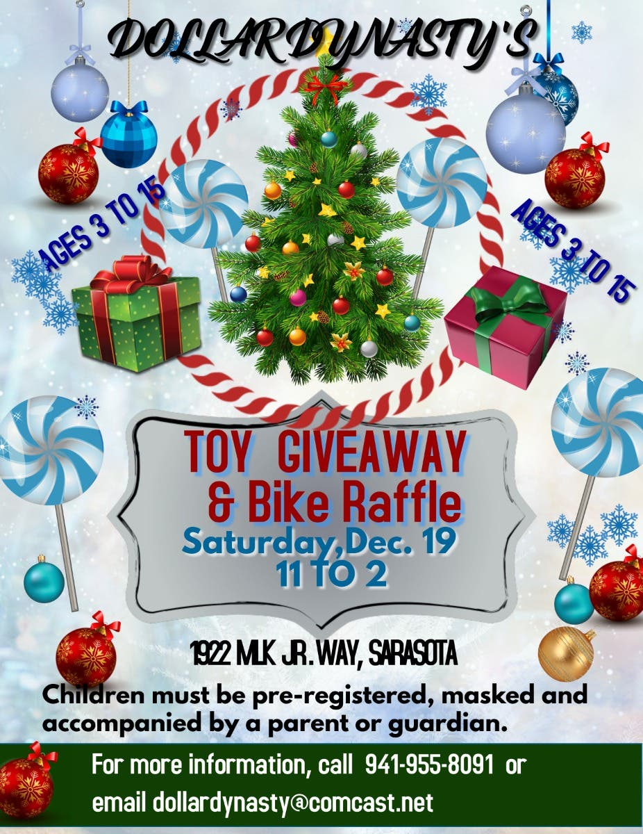 Christmas Toy Giveaway 2021 Dec 19 Holiday Toy Giveaway Sarasota Fl Patch