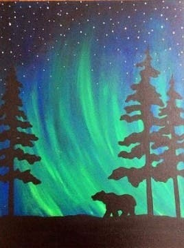 Paint Along—Northern Lights