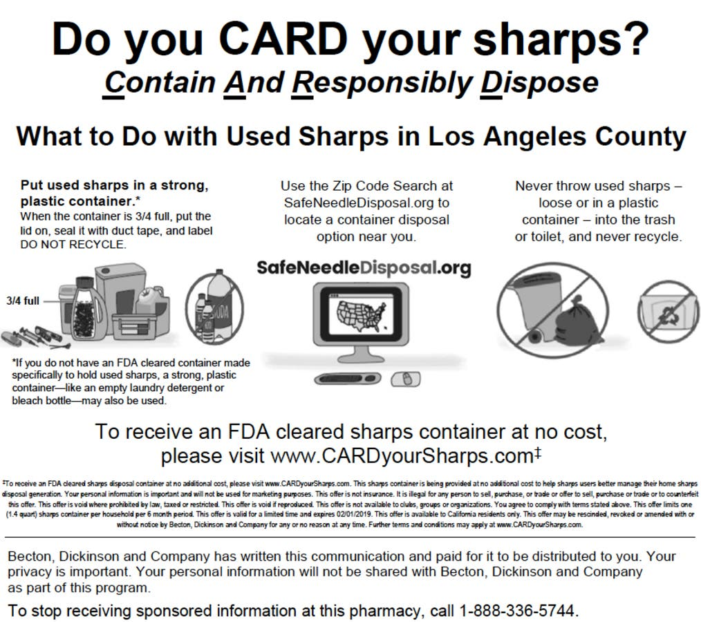 New LA County Initiative for Sharps Disposal | Los Angeles