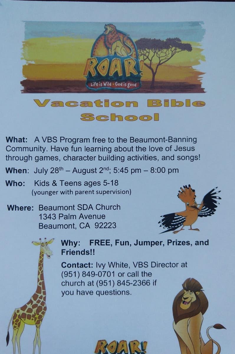 Jul 29 | ROAR! - FREE Beaumont Vacation Bible School 2019